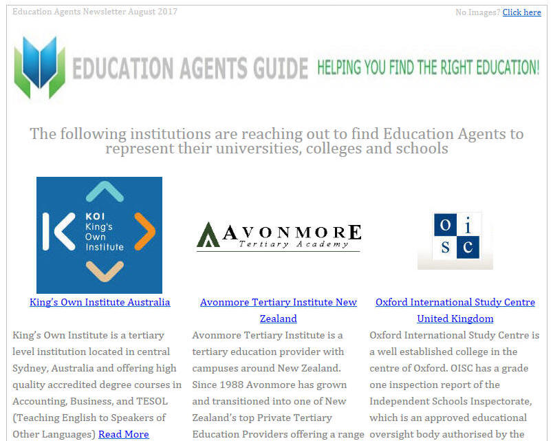 Education Agents Newsletter